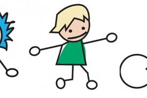 Bild tecknade barn
